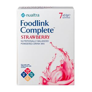 3990033 FOODLINK COMPLETE Powder Sachets Strawberry 57g - 7pk - edit