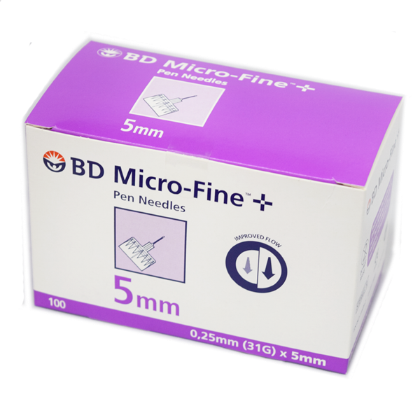 BD Microfine + Pen Needles Packs of 100 5mm 31g 2438554