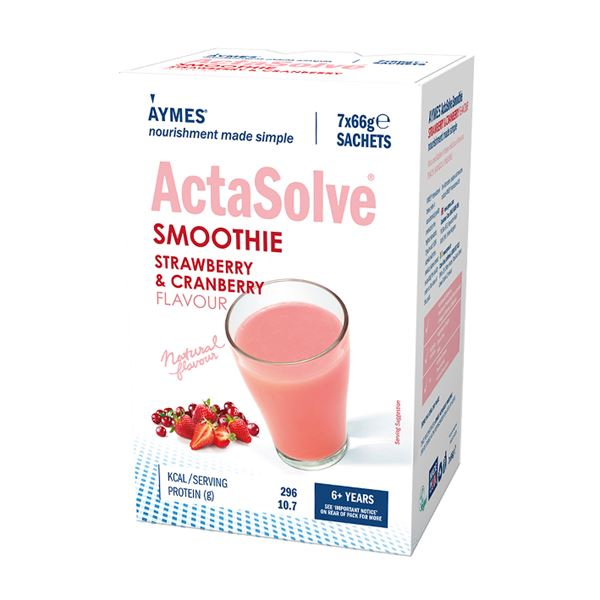 AYMES Shake Smoothie Strawberry & Cranberry 66g Sachets -7pk - 3972841