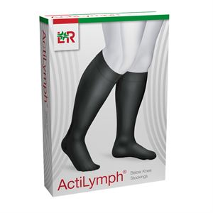 3428190 ACTILYMPH Cl1 Stocking Below Knee S Closed Toe Black XXL - 1 R048