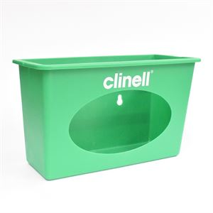 AHP5495   CLINELL Plastic Container Dispenser (Green) Wall Mounted 1pk